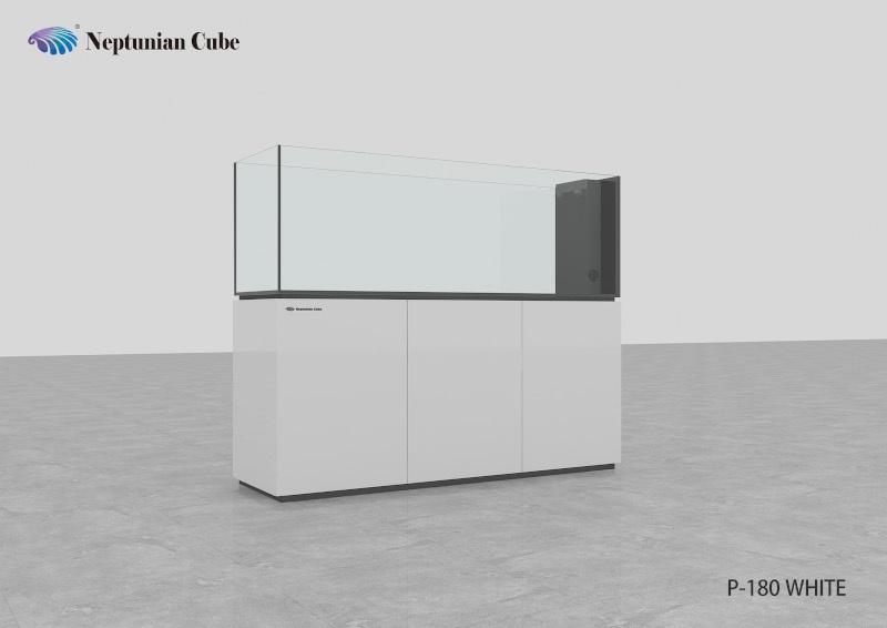 "Neptunian Cube Aquarium ""P180"" Weiß Palettenversand"