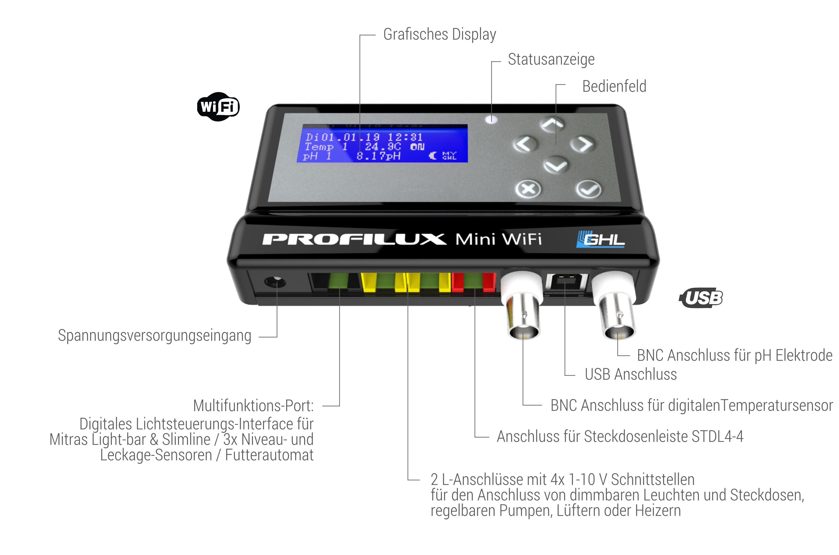 GHL ProfiLux Mini WiFi Schwarz