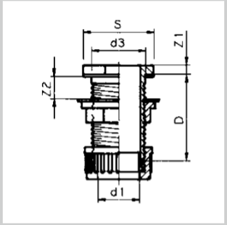 """PVC - VDL Tankverschraubung d40 x 1 3/4"""", Klemm."""