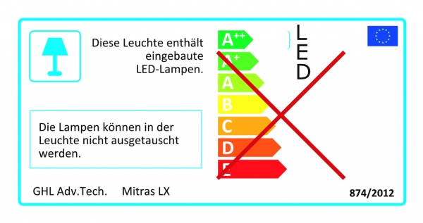 GHL Mitras LX 7204 LED Beleuchtung silber/weiß