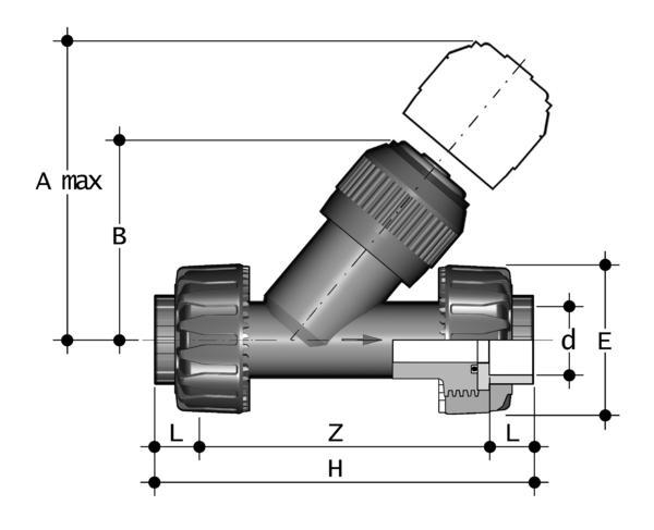 FIP Rückschlagventil PVC-U, VRUIV / EPDM, 16 mm