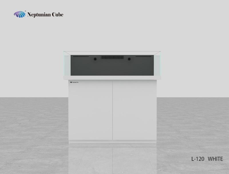 """Neptunian Cube Aquarium """"L120"""" Weiß  Palettenversand"""