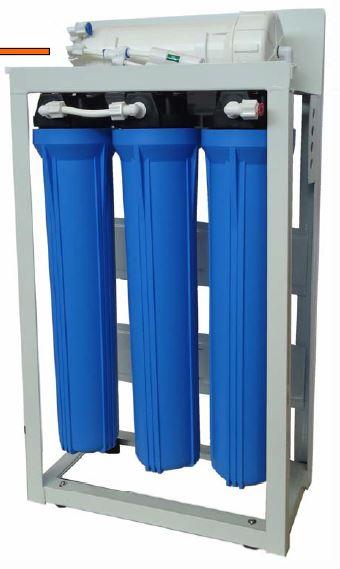 """Aquili Osmoseanlage mit 3 Filter 20"""" mit Spülventil und Manometer 3780 l"""