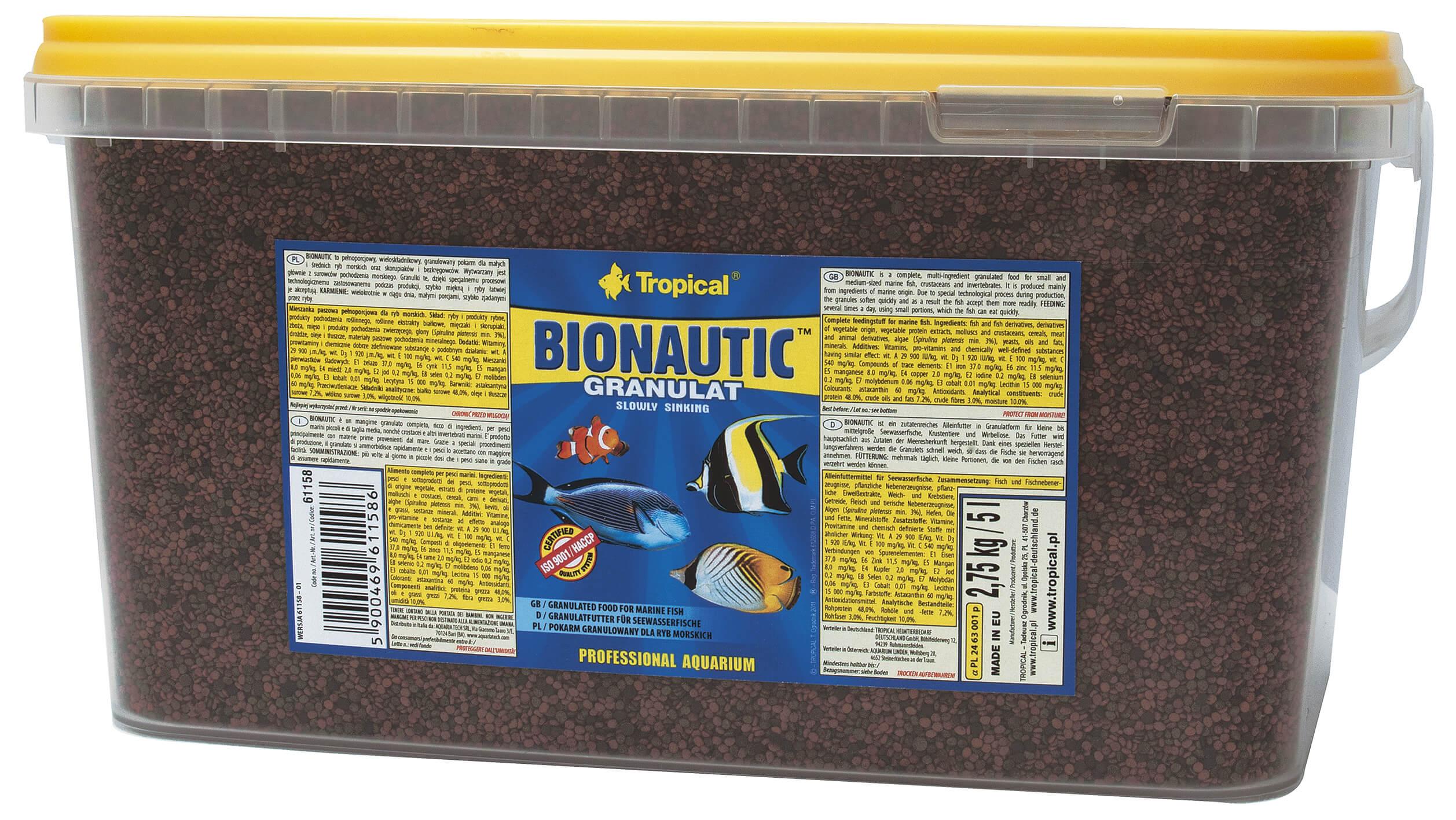 Tropical-Futter Bionautic Granulat 5 Ltr. / 2.75 Kg