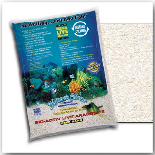 Nature's Ocean Natural White Aragonite Live Sand 0,5 - 1,7 mm, 4.54 kg