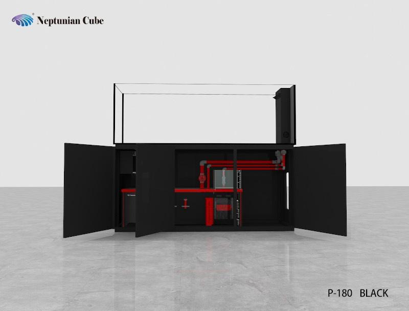 "Neptunian Cube Aquarium ""P180"" Schwarz Palettenversand"