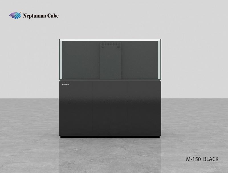 Neptunian Cube Aquarium Serie M150 Schwarz Palettenversand