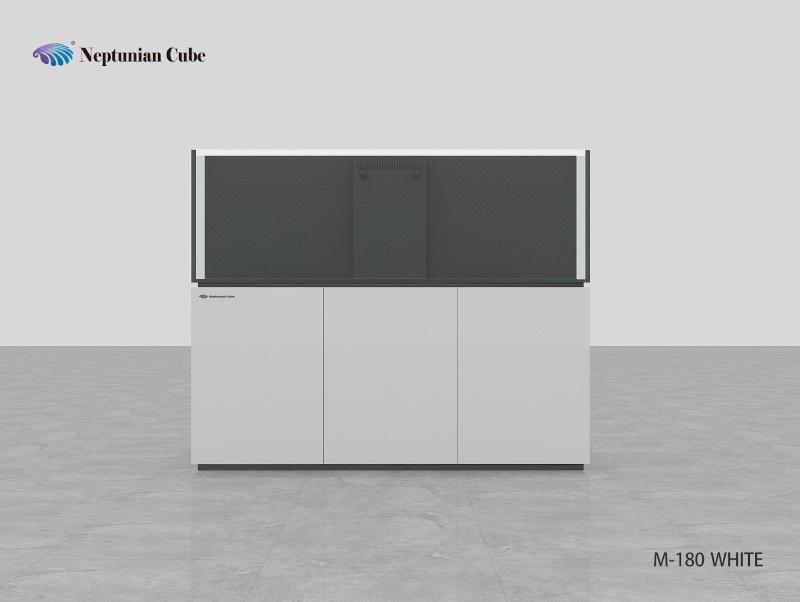 Neptunian Cube Aquarium Serie M180 Weiß Palettenversand