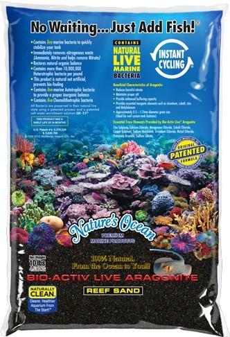 Nature's Ocean Black Beach Live Sand 0,5 - 1,7 mm, 9.07 kg
