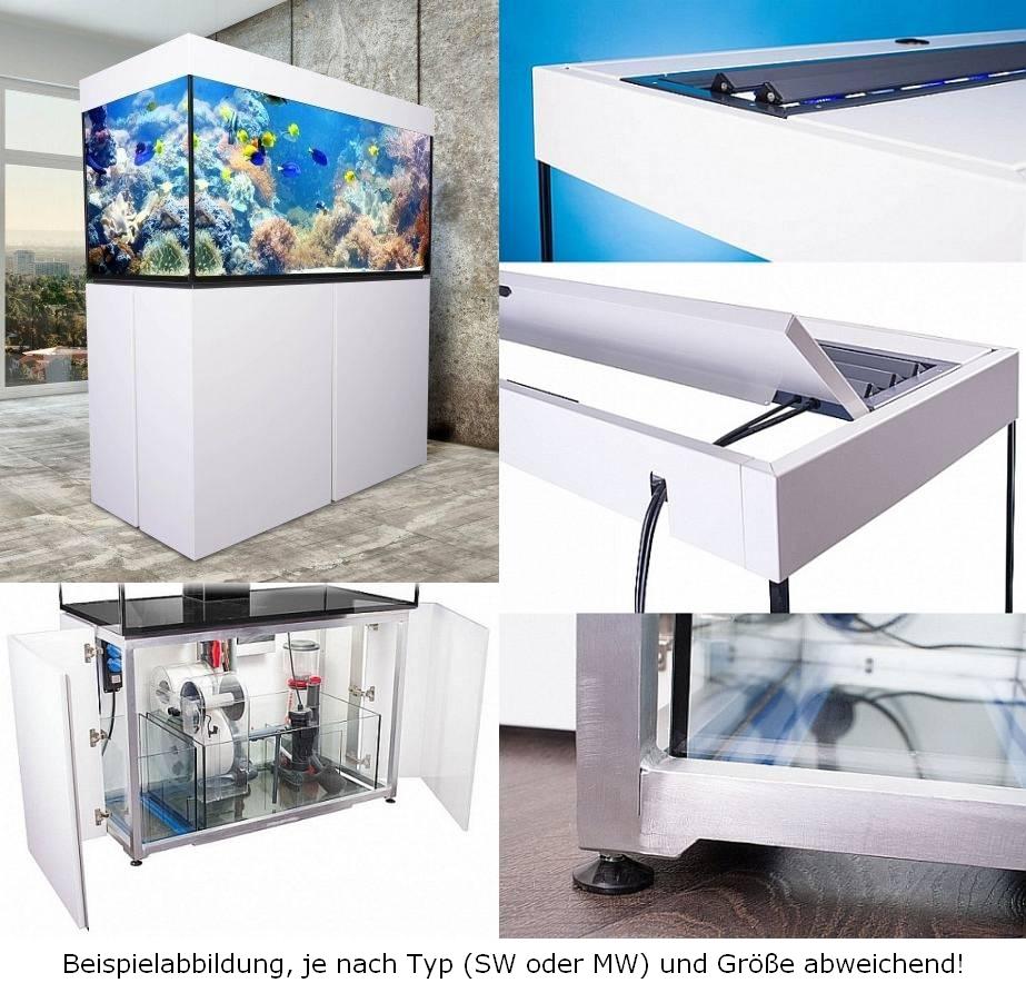 Theiling Komlpettaquarium Experience 120 mit 3 fach Sunmover Weißhochglanz Palettenversand