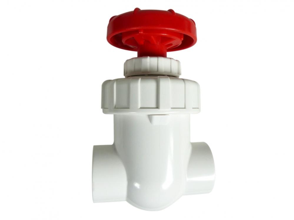 Royal Exclusiv PVC Absperrhahn / Absperrventil weiß/rot 32mm