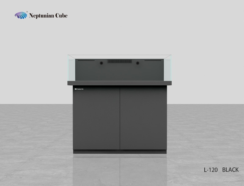 "Neptunian Cube Aquarium ""L120"" Schwarz   Palettenversand"