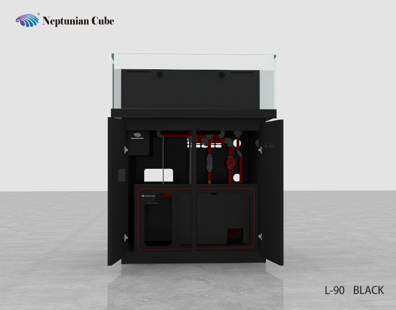 Neptunian Cube Aquarium Serie L90 Schwarz Palettenversand