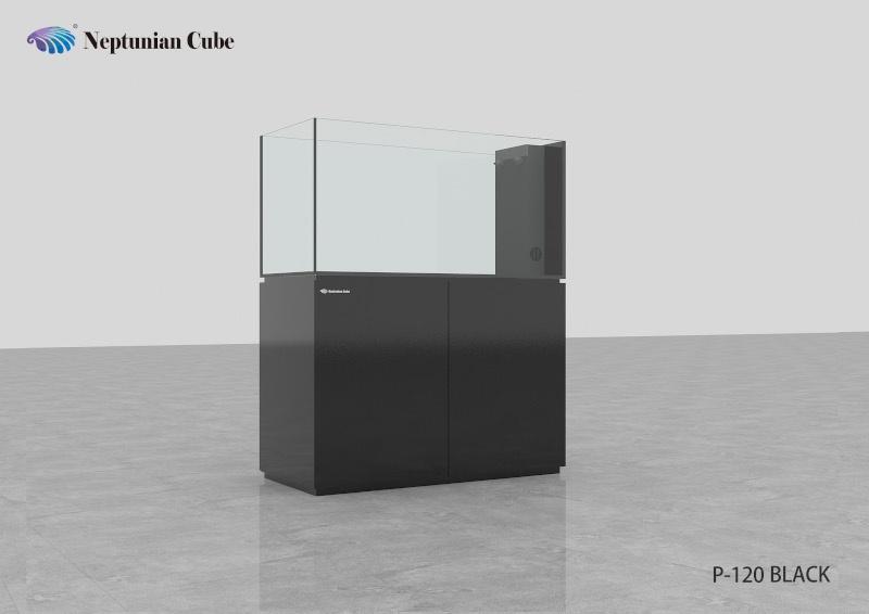 "Neptunian Cube Aquarium ""P120"" Schwarz Palettenversand"