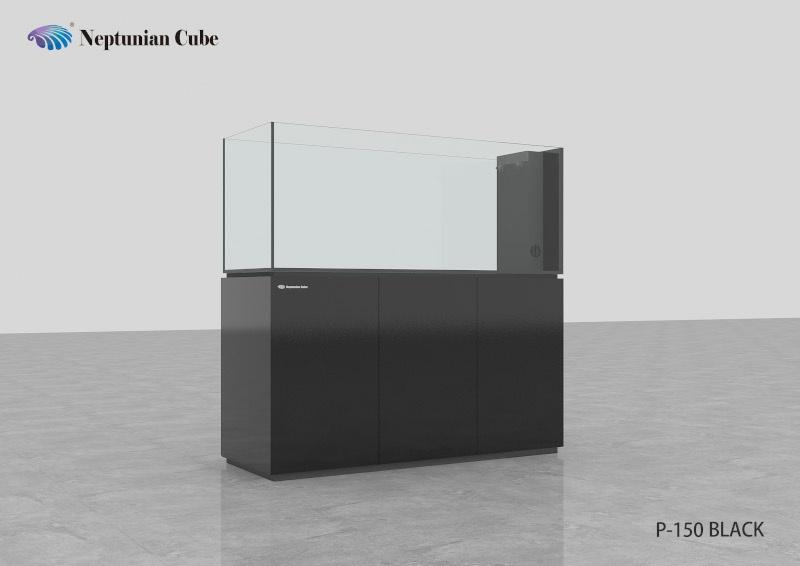 "Neptunian Cube Aquarium ""P150"" Schwarz Palettenversand"