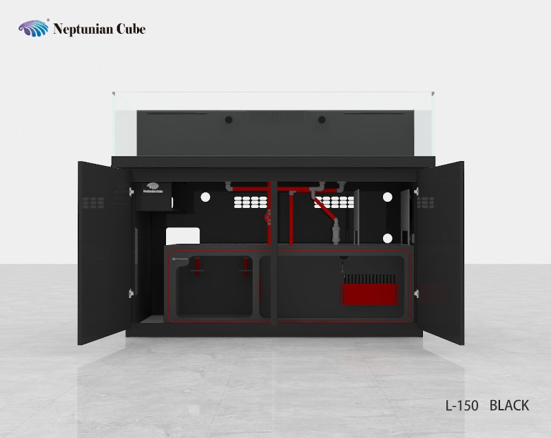 "Neptunian Cube Aquarium ""L150"" Schwarz  Palettenversand"