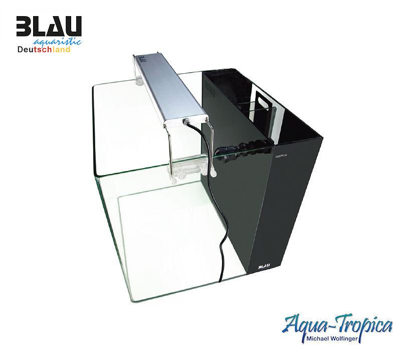 BLAU aquaristc All-in-on Komplettset schwarz - Aquarium 90 Liter