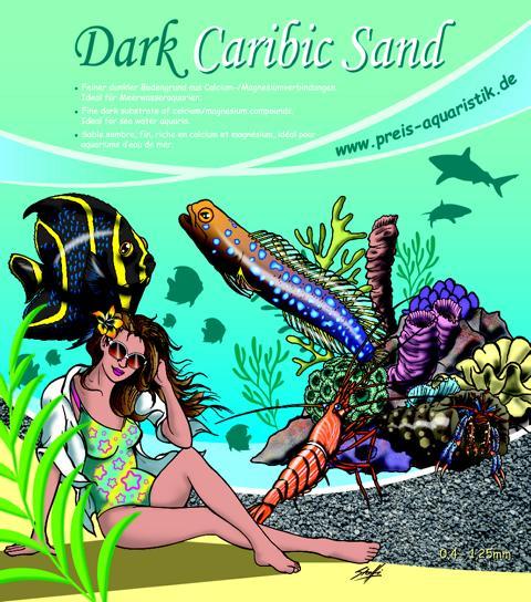 Preis Aquaristik Dark Caribic Sand 0,4-1,25mm  3kg