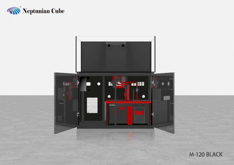 Neptunian Cube Aquarium Serie M120 Schwarz Palettenversand