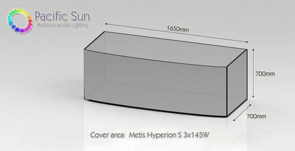 Pacific Sun Metis Hyperion S (SMT) 3x145W weiß