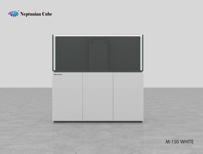 Neptunian Cube Aquarium Serie M150 Weiß Palettenversand