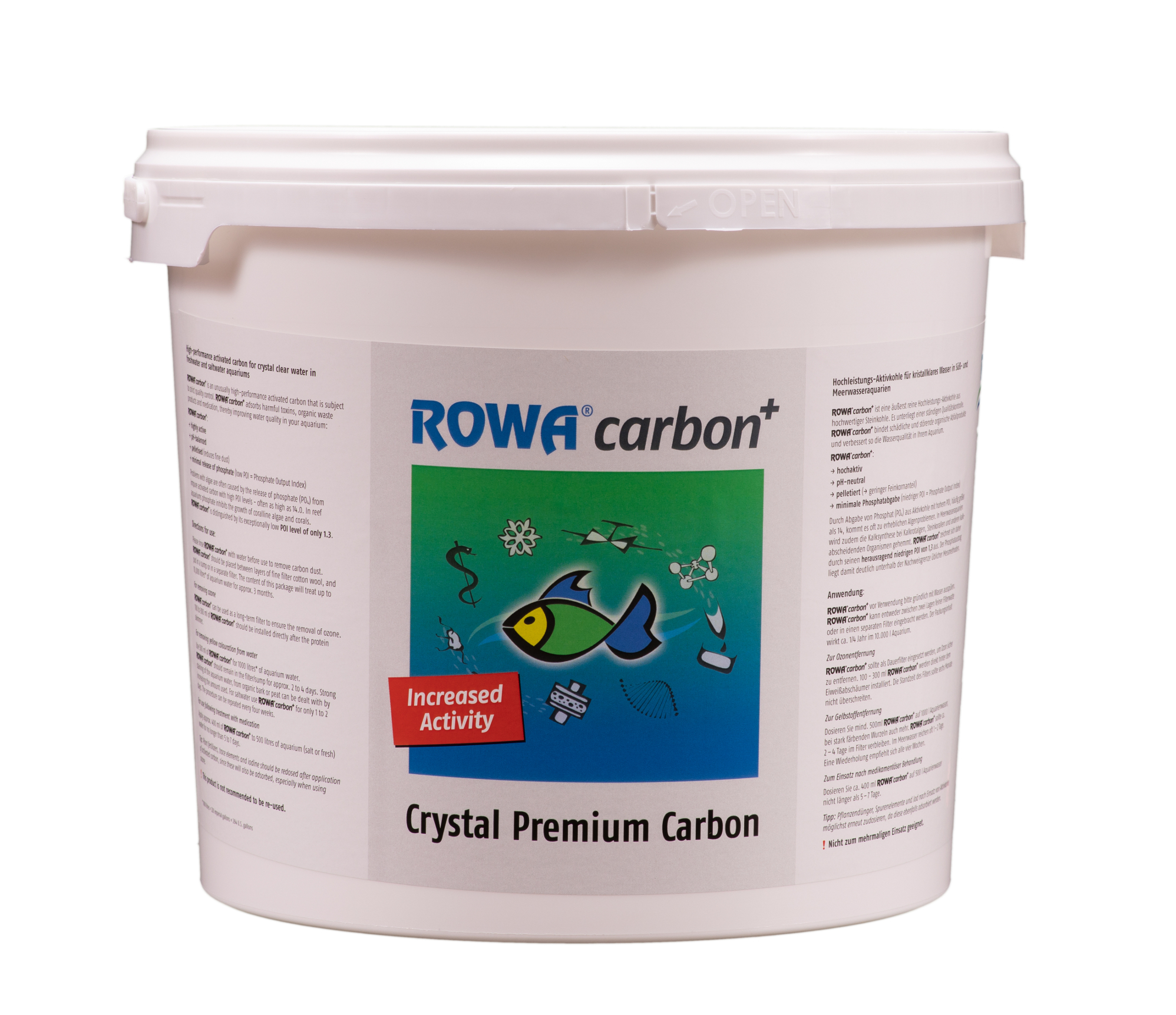 ROWAcarbon - pelletierte Aktivkohle 2,25 kg Eimer